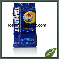 Vertical standup side gusset coffee bag for coffee bean packaging