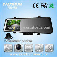 """High quality 4.3"""" 1080P car Black box blue glass Cycle Recording dual lens Full HD 1080p Car DVR"""