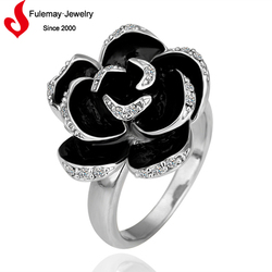 Hot fancy gold ring designs flower shaped ring for sale
