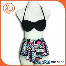 Summer High Waist Bikini Set Push Up Vintage Bohemian Sexy Swimwear Bikini For Women Triangle Swimsuit Biquinis Beach Wear Bathi