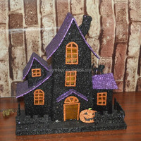2014 Best selling Halloween decoration paper house with pumpkin from Shenzhen China factory
