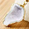 China New drusy wholesale fashion pendant geode jewelry