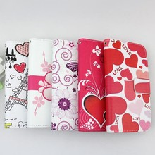 mix style color printed leather wallet phone case for Nokia lumia 435