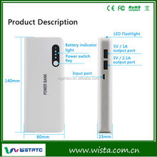 CE, FCC, RoHS Certified Emergency Universal Power Bank 16800mAh, Portable External Battery Charger