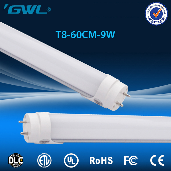 Cubierta de la PC del medio ambiente material del tubo del led, 9 vatios ul dlc aparece 2835 tubo de luz led a prueba de agua