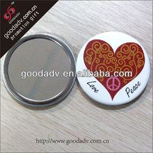 2014 new trends custom tin metal compact mirror for promotional