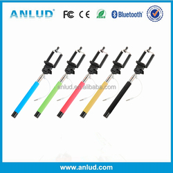 2015 High Quality Cheap Extendable Wireless Monopod bluetooth selfie stick