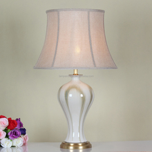 Manufacture wholesale design brand table lamp with polished ceramic lampstand
