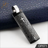 conclusion of the bible stainless steel prayer pendant