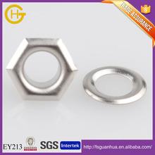 High quality hexagon eyelet metal brass eyelet for shoes / garment