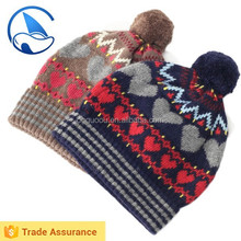 Winter Knitted Baby Jacquard Hats