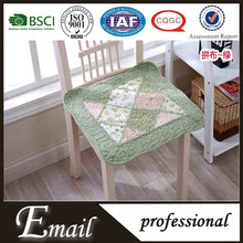 China supplier fancy cotton patchwork floral printed chair covers cheap
