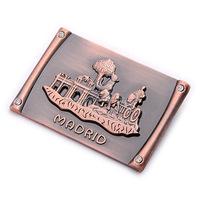 custom metal souvenir madrid fridge magnet
