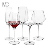 Wholesale Handmade Cheap Long Stem Crystal Red Wine Glass