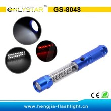 GS-8048 24 red light led work light with laser pointer auto inspection torch