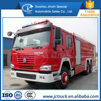 Sinotruck HOWO 6X4 12/15CBM size of fire truck for sale, fire truck water capacity