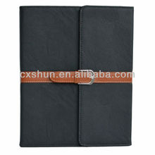 Pu Leather Case Cover with Leather Belt+buckle for Apple the New Ipad mini (black)