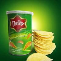 Sour Cream & Onion halal canned Potato chips Snacks food I believe brand