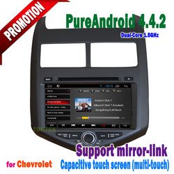 Touch screen Bluetooth with 3g/wifi mirror-link +hotspot+radio/gps/dvd/mp3/TV/IPOD for Aveo android 4.4.2 car Multimedia