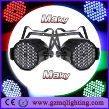 54x 3W RGB PAR64 DMX LED Party Stage Effect Lights