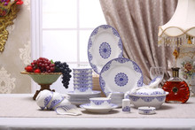 classic design big bowl chinese blue and white decal porcelain tableware