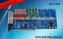 Easy install AEX 800 Asterisk analog cards can support 4U chassis