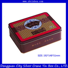 Cookie Tin Box/Sweety Rectangular Biscuit Cookies Tin Cans