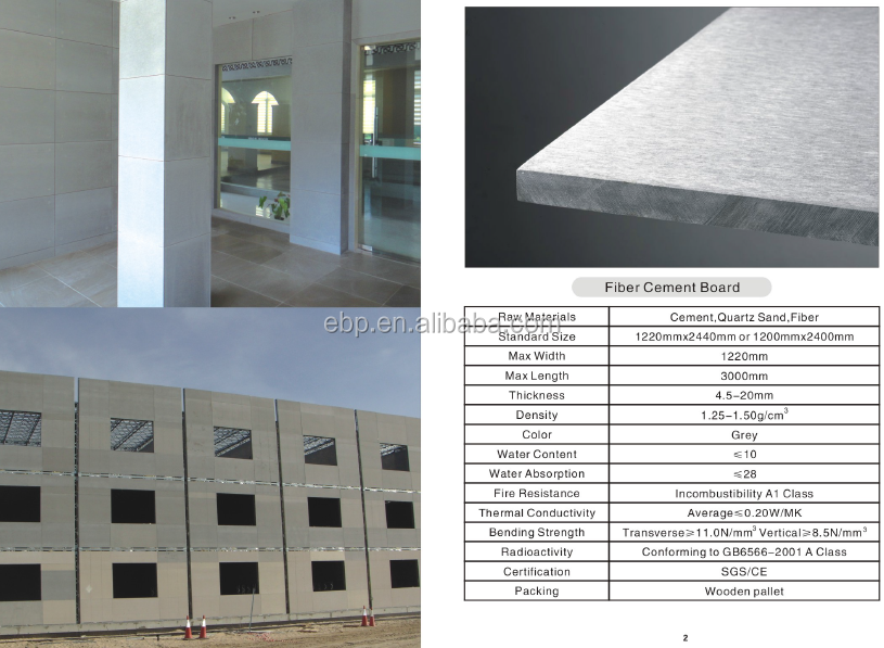 Cement Board Sizes : Wooden grain fiber cement sheet flat factory price buy