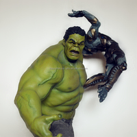 High end 1/6 Scale polyresin green giant statue collection craft