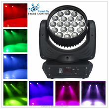 China Supplier 19*12W stage effect lighting, zoom led moving head wash lights