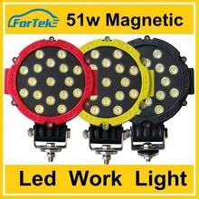 51w work light round waterproof led ring light