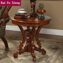 Hold on style handmade wood round end coffee table X-202