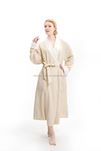 Usa style microfiber double layers long bathrobe / Ladies plush sleepwear