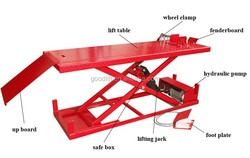 Hot sell motorcycle lift used, mini scissor lift