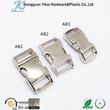 1/2 curved metal buckle/metal paracord bracelet buckle/side release buckle metal
