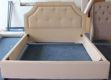Latest furniture design of European fabric bed style for royal