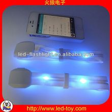 valentine day gift with LED light Personalized Business Items & Gifts for promotion led slap bracelet