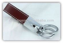 fashionable leather key rings fobs wholesale with metallic