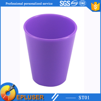 Custom SAN material 2 oz plastic cups yellow plastic cup purple plastic cups