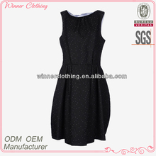 OEM factory direct top fashion tight fit black and white sexy gilrs polka dot dress