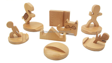 novelty wooden cell phone holder for desk for sale