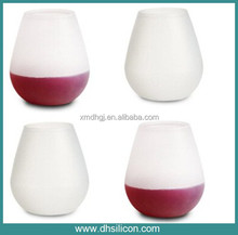 As see on TV / 11*9 cm Food silicone rubber whisky , red wine , beer , water , juice glass