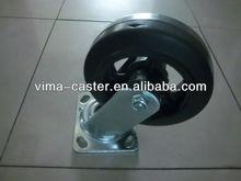 2013 150mm swivel Black rubber Iron heavy duty wheel