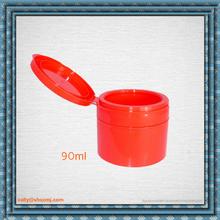 Nice Plastic CREAM Jar with flip top ,90ml red plastic jars PP jars for hair mask package