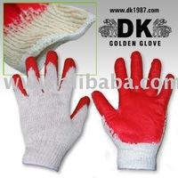 Working latex coated gloves