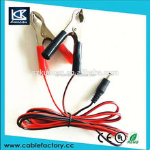 alligator clips external power cable with alligator clips charging cable shenzhen kuncan
