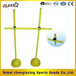 yellow ABS adjustable soccer training hurdle set