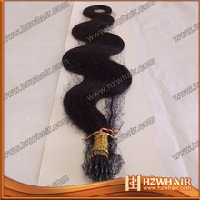 100% human remy virgin brazilian hair,nano ring hair,brazilian nano ring hair extensions