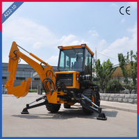 4WD Mini Tractor Backhoe Loader with Pilot Hydraulic Operating System