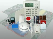 GSM wireless digital home security alarm system with built-in auto dialer and backup battery